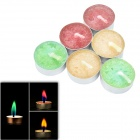 SYVIO BOAI Colored Flame Candles in Aluminum Holders for Romantic Party - Multicolored (6 PCS)