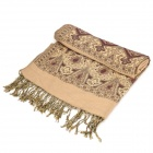 Fashionable Traditional Patterned Warm Cotton Scarf Wraps - Coffee