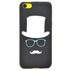 Glow-in-the-Dark Cool Man Style Protective PC Back Case for Iphone 5C - Black