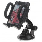 "H01 180 Degree Rotation Suction Cup Holder w/ C38 4.3~5.5"" Back Clip Bracket - Black"
