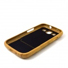 ZY-116 Flashback Pattern Detachable Protective Bamboo Back Case for Samsung Galaxy S3 i9300 - Yellow