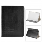Protective PU Leather Case Cover Stand w/ Card Slots for Samsung Galaxy Tab 3 10.1 P5200 - Black