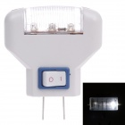 1W 6000K 10lm 3-LED White Light Small Night Lamp - White (220V 50/60Hz / 2-Flat-Pin Plug)