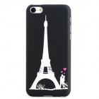 Glow-in-the-Dark Eiffel Tower Style Protective PC Back Case for Iphone 5C - Black