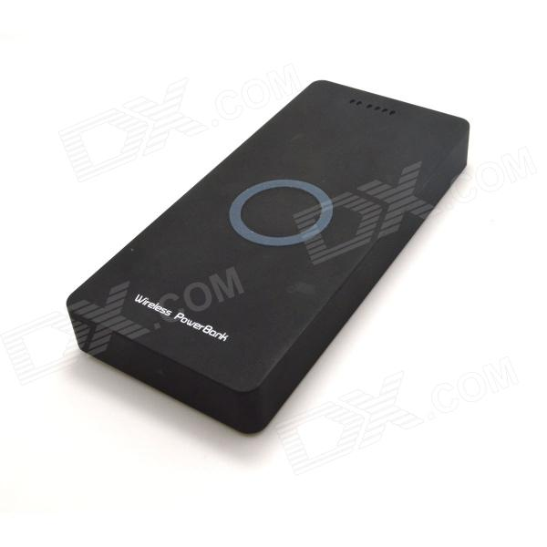 WP-8000 Qi Wireless 5000mAh Mobile Power Source Bank - Black qi wireless charger charging receiver transparent cover