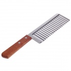 PAROLONG KC-012 High Quality Stainless Steel French Wave Knife - Brown + Silver