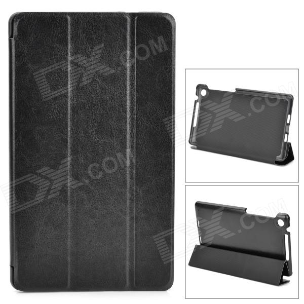 Protective PU Leather Case Cover w/ 3-Folding Stand for Google Nexus 7 II - Black рюкзак case logic 17 3 prevailer black prev217blk mid