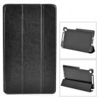 Protective PU Leather Case Cover w/ 3-Folding Stand for Google Nexus 7 II - Black