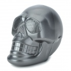 Skull Style Portable 2-Channel Multi-Media Speaker w/ FM / TF - Dark Grey
