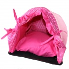 PIPITAO Cute Princess Pet Dog House + Candy Shaped Pillow + Soft Cushion - Pink