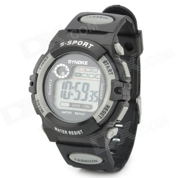 SYNOKE 99269 Multifunctional Sports Digital Wrist Watch - Black + Grey (1 x LR1130)