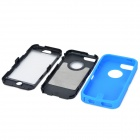 Robot Style Protective Plastic + Silicone Back Case for Iphone 5C - Blue + Black