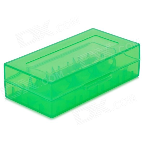 Convenient PP Carrying Case for 18650 / 16340 (CR123A) Battery - Translucent Green