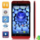 "M pai S6 MTK6589T Quad-Core Android 4.2.1 WCDMA Bar Phone w/ 5.0"" HD IPS, 16GB ROM, FM and GPS - Red"