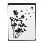 "Creative Flowering Straw Pattern Sticker for MacBook 11"" / 13"" / 15"" / 17"" - Black"
