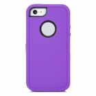 Robot Style Protective Plastic + Silicone Back Case for Iphone 5C - Purple + Black