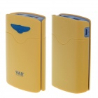 VAB A3 8400mAh Dual-USB Power Source Bank Battery Charger w/ LED for Iphone 5S + More - Yellow