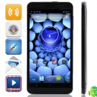 "M pai S6 MTK6589T Quad-Core Android 4.2.1 WCDMA Bar Phone w/ 5.0"" IPS, 16GB ROM, FM and GPS - Black"