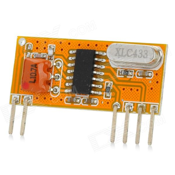 433MHz Superheterodyne Low Power Consumption Wireless Receiving Module - Yellow + Black freeshipping rs232 to zigbee wireless module 1 6km cc2530 chip