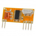 433MHz Superheterodyne Low Power Consumption Wireless Receiving Module - Yellow + Black