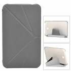 Protective PU Leather Case Cover Stand for Samsung Galaxy Tab 3 T210 - Black + Grey