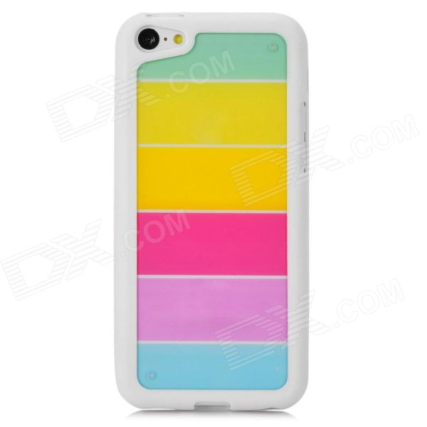все цены на Rainbow Pattern Protective PC + TPU Back Case for Iphone 5C - White + Multicolor онлайн