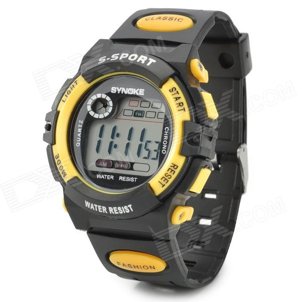 SYNOKE 99269 Multifunctional Sports Digital Wrist Watch - Yellow + Black (1 x LR1130)