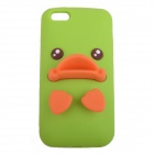 AY-051 Cute Duck Mouth Style Protective Silicone Back Case for iPhone 5 - Green + Orange
