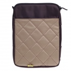 "Tee 10"" One-Shoulder Sleeve Bag w/ Handle for Ipad / Ipad 2 / Ipad 3 - Deep Brown + Khaki"