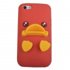AY-051 Cute Duck Mouth Style Protective Silicone Back Case for iPhone 5 - Red + Yellow