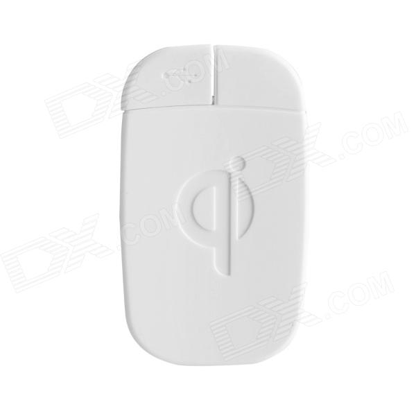 JSQ-006 Qi Micro USB Interface Wireless Charging Receiver for Samsung / MIUI / HTC - White