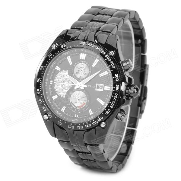 CURREN 8083 Men's Stylish Tungsten Steel Analogue Quartz Wrist Watch - Black (1 x 626) curren 8019 water resistant electroplating tungsten steel quartz wrist watch black 1 x 626 page 7
