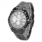 CURREN 8083 Men's Stylish Tungsten Steel Analogue Quartz Wrist Watch - Black (1 x 626)