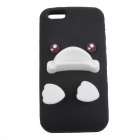 NF008 Cute Duck Style Protective Silicone Back Case for Iphone 5 - Black + White