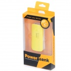 BP High-Quality Portable 5200mAh Mobile Power Bank for Iphone 5S / Samsung / HTC - Yellow + White