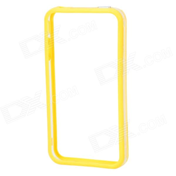 Protective TPU + Plastic Bumper Frame for Iphone 4 / 4S - Yellow + Translucent White protective plastic bumper frame for iphone 6 4 7 yellow