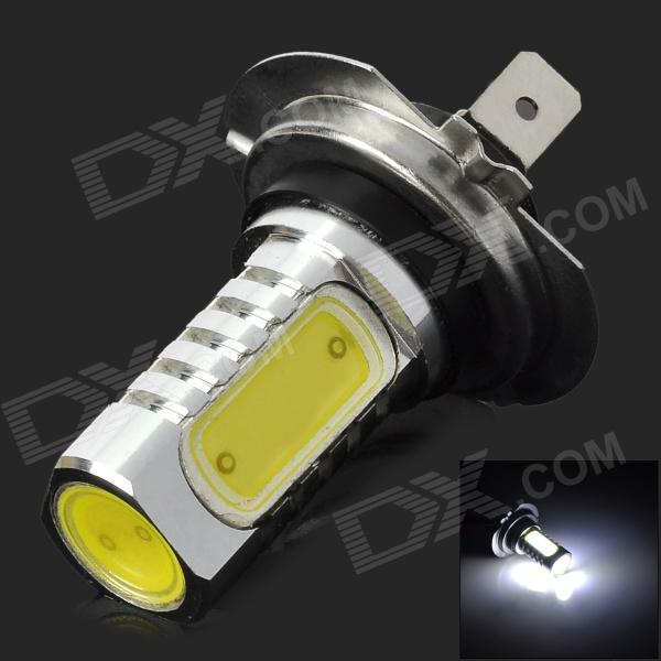 10~28V 6W 350LM 7000K White Light H7 LED Fog Lamp - Silver + Yellow