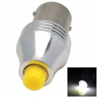 LX LX3006 1156 6W 300lm 6500K  1-LED White Light Car Backup Lamp - Silver (Rated Voltage)