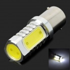 1156 6W 350lm 7000K White 12-COB LED Car Foglight Light - Silver + Yellow