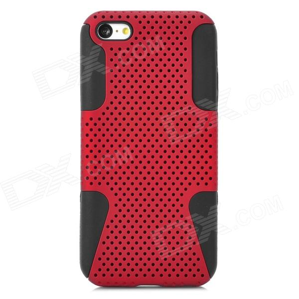 все цены на 2-in-1 Protective Plastic + Silicone Back Case for Iphone 5C - Deep Red + Black онлайн
