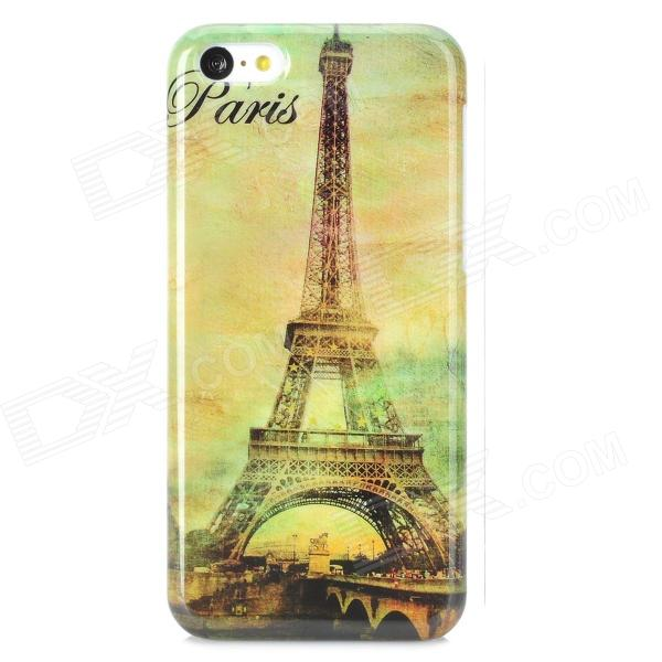 Eiffel Tower Pattern Protective PC Back Case for Iphone 5C - White + Multicolor аксессуар чехол sony xperia z5 compact brosco transparent z5c tpu transparent