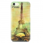 Eiffel Tower Pattern Protective PC Back Case for Iphone 5C - White + Multicolor