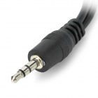 1-to-2 3.5mm Male to Female Audio Extender Cable - Black