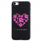 Glow-in-the-Dark Love Heart Style Protective PC Back Case for Iphone 5C - Black + Deep Pink