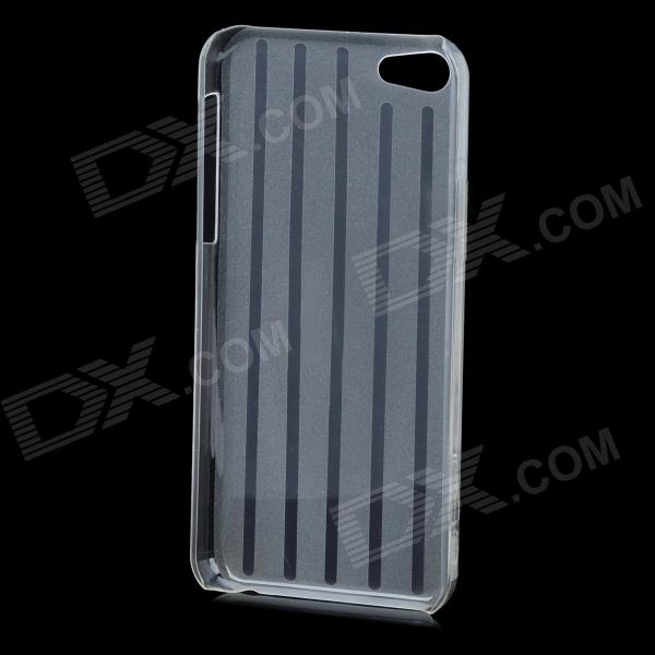 Stripe Pattern Protective Plastic Back Case for Iphone 5C - Translucent White iris pattern protective plastic back case for iphone 3g white