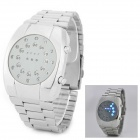 YD9031 Men's Stylish Creative Digital LED Quartz Wrist Watch - Silver (1 x CR2016)