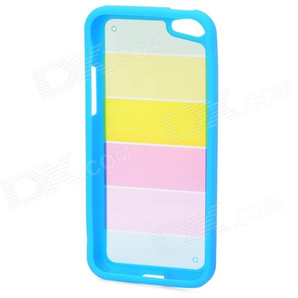все цены на Rainbow Pattern Protective PC + TPU Back Case for Iphone 5C - Blue + Yellow + Pink онлайн