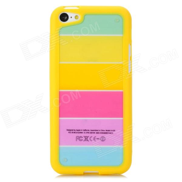 все цены на Rainbow Pattern Protective PC + TPU Back Case for Iphone 5C - Yellow + Pink онлайн