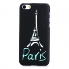 Glow-in-the-Dark Eiffel Tower Style Protective PC Back Case for Iphone 5C - Black + Green