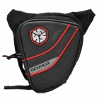 SCOYCO MB14 Cycling Motorcycle 600D + Leather + PVC Waist / Leg Bag - Black + Red